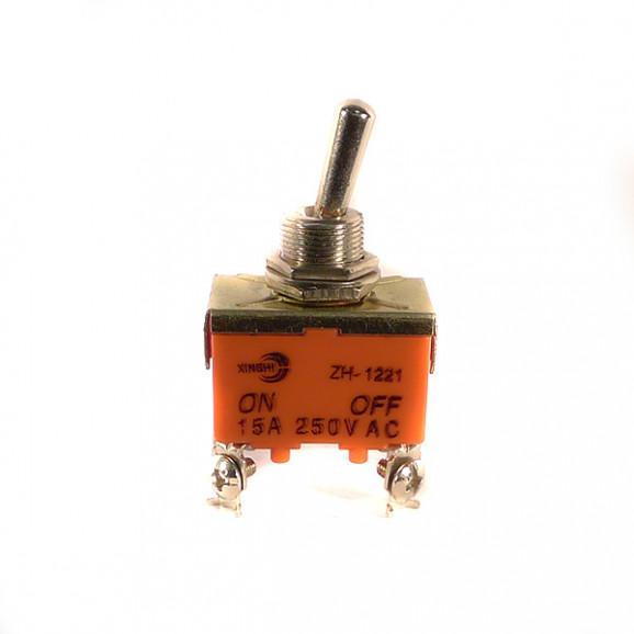Chave Alavanca ON-(OFF) Quatro Terminais KN-1221 15A 250V