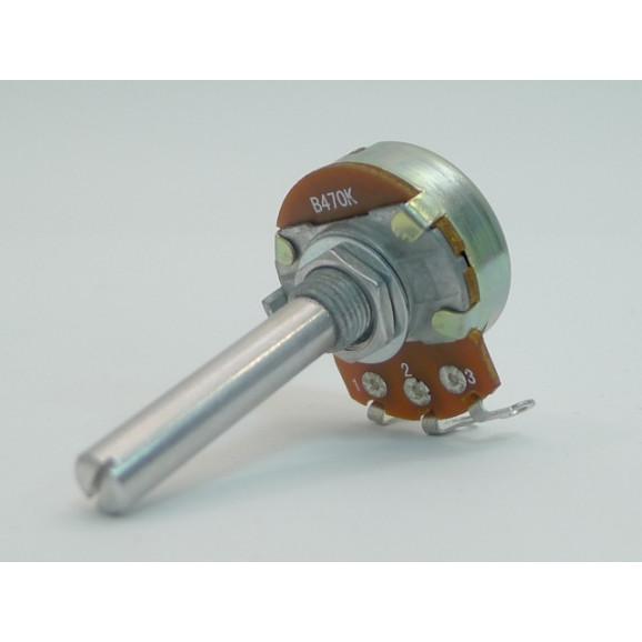 Potenciômetro 24mm  Linear B1K Ω eixo metálico com 35mm - 24N1