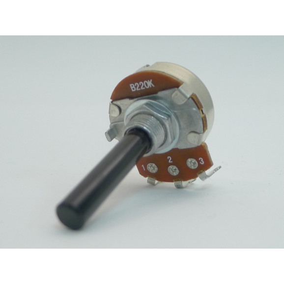 Potenciômetro 24mm Linear B100K Ω eixo plástico com 35mm - 24N2