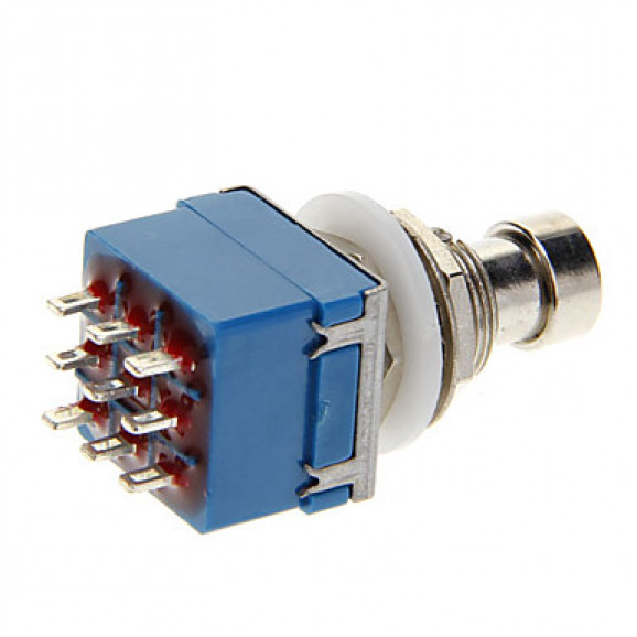 Chave 3PDT Foot Switch para solda fio PBS-24-302