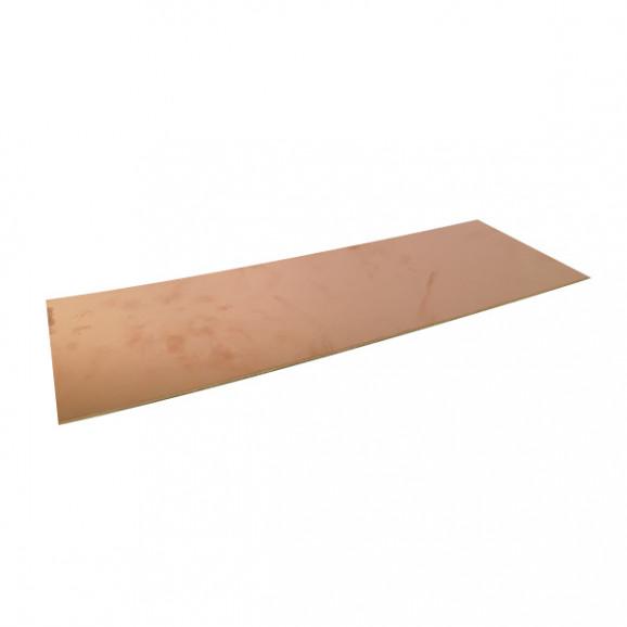 Placa de Fenolite Face Simples 10x25 cm