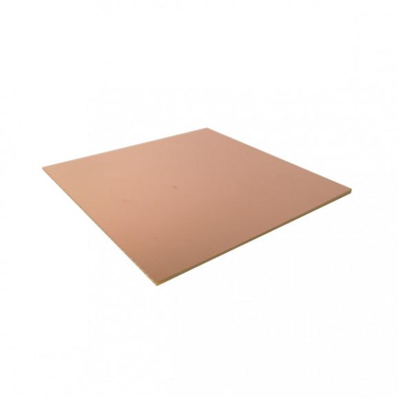 Placa de Fenolite Face Simples 10x10 cm