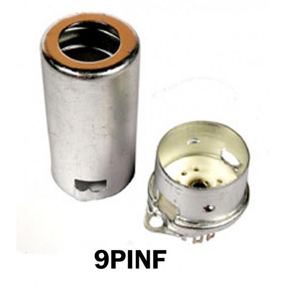 Soquete para Válvula de 9 Pinos (Noval) Cerâmico com Shield (Solda Fio) - 9PINF