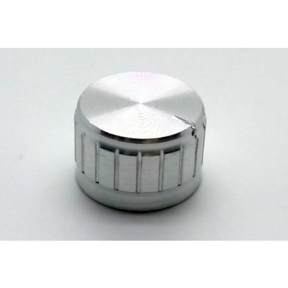 Knob de alumínio para potênciometro de eixo estriado - B21x13 - Cromado