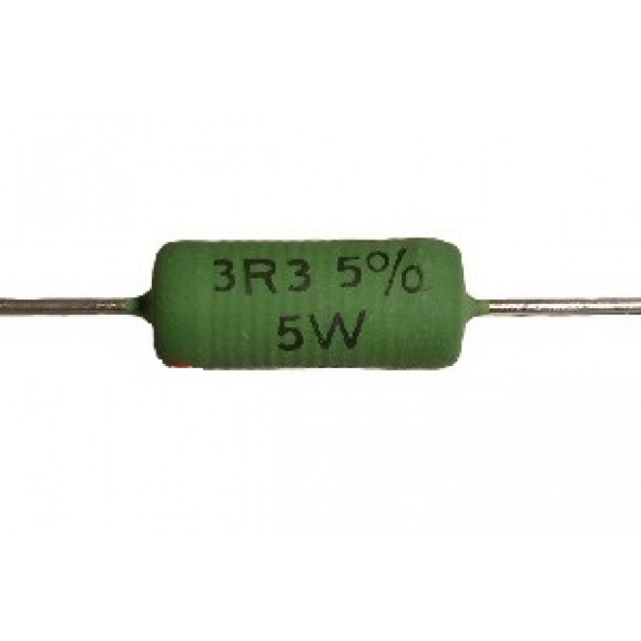 Resistor de Fio 5 Watts AC05 5% de tolerância - 0.22 Ω à 27K Ω