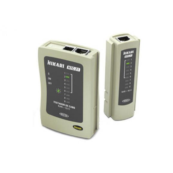 Testador de cabos RJ45 e RJ11 HTC-21