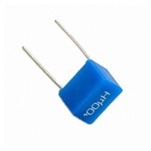 Indutor Radial espaçamento 5mm 100uH
