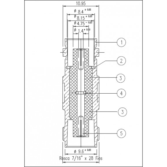 Adaptador de Conversão BNC Fêmea X TNC Fêmea - KLC-041 - Gav 51 - KLC