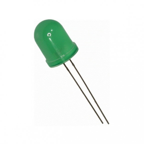Led 10mm Verde Difuso L-833GD - Paralight