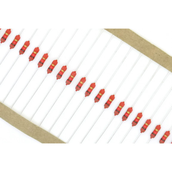 Resistor de Filme Metálico 1 Watt PR01 5% de tolerância - 0.22 Ω à 10M Ω