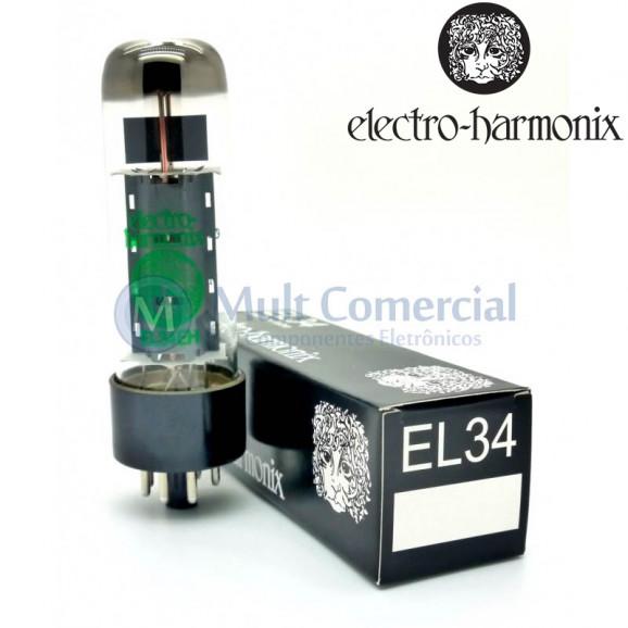 Válvula EL34EH 6CA7 Pentodo de Potência Electro-Harmonix