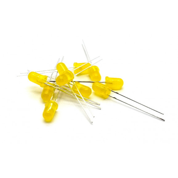 Led 5mm Amarelo Difuso L-513YD - Paralight