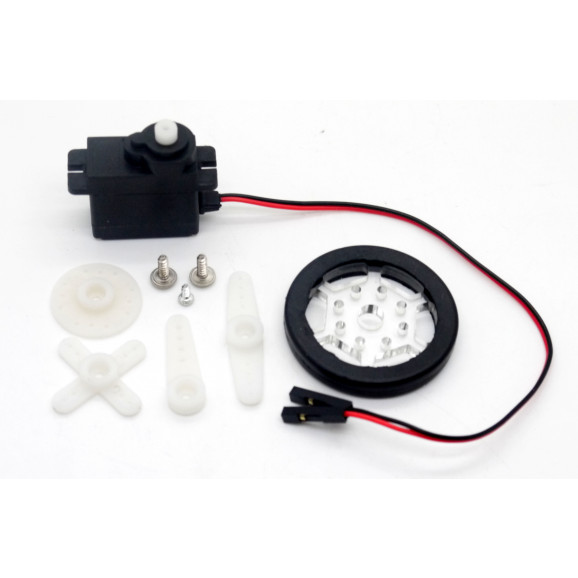 Micromotor 5V com redução e roda - DG-011