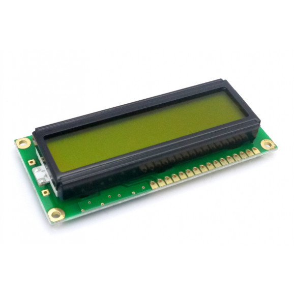 Display LCD 16x01 Verde com Luz de Fundo (Back Light) WH-1601A-YYH-JTK - Winstar