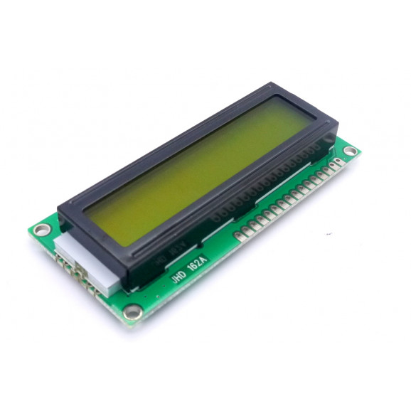Display LCD 16x02 Verde com Luz de Fundo (Back Light) JHD162A