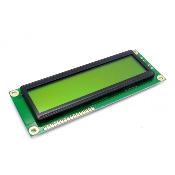 Display LCD 16x02 Big Number Verde sem Luz de Fundo (Back Light) WH-1602L-NYG-JT - Winstar
