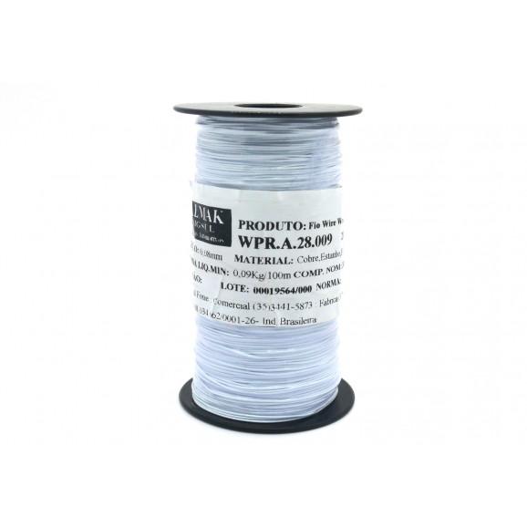 Fio Wire Wrap 28AWG  0.08mm  Branco WPR.A.28.009 Rolo com 300 Metros - Almak