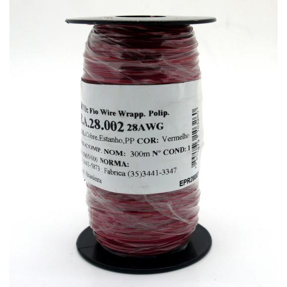 Fio Wire Wrap 28AWG  0.08mm  Vermelho WPR.A.28.002 Rolo com 300 Metros - Almak