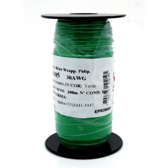 Fio Wire Wrap 30AWG  0.05mm  Verde WPR.A.30.005 Rolo com 300 Metros - Almak