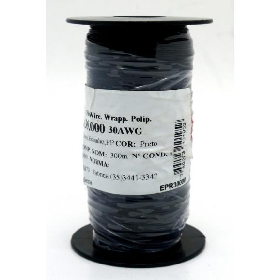 Fio Wire Wrap 30AWG  0.05mm  Preto WPR.A.30.000 Rolo com 300 Metros - Almak
