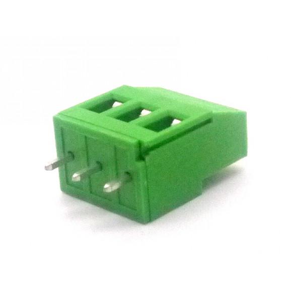 Conector Verde Multipolar AKZ700-03 Macho de 3 vias - Passo 5.0mm - Phoenix Mecano