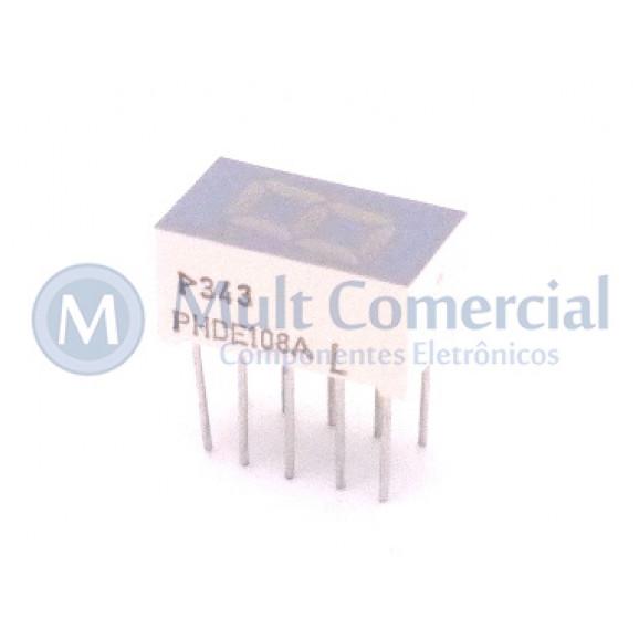 Display de 7 Segmentos Anodo Comum Vermelho Alta Intensidade PHDE108A - Politronic