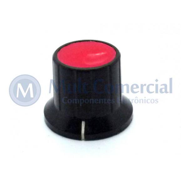 Knob com Parafuso 13030-5 Vermelho - Torplas