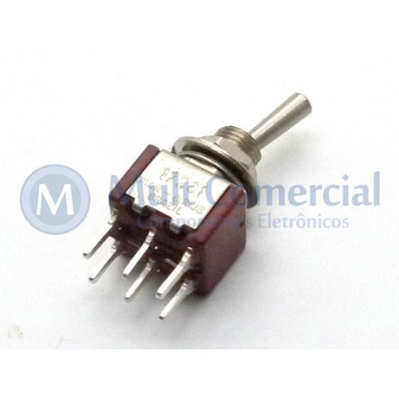 Interruptor de Alavanca Metálica Bipolar (PCI) 5A 17.201 LIGA/LIGA - Margirius