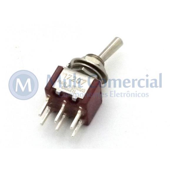 Interruptor de Alavanca Metálica Bipolar (PCI) 5A 17.207 LIGA/DESLIGA/(LIGA) Momentânea - Margirius