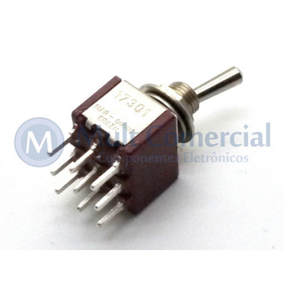 Interruptor de Alavanca Metálica Tripolar (PCI) 5A 17.301 LIGA/LIGA - Margirius