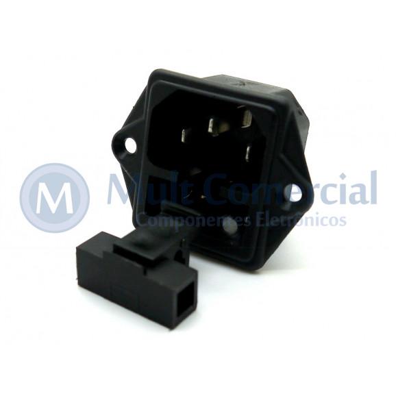 Tomada para Painel com Porta Fusível IEC 60320 - EX-2510P