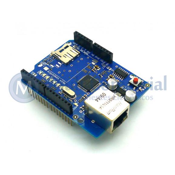 Shield Ethernet com Slot para SDCard - W5100 - BC
