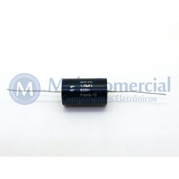 Capacitor de Polipropileno Metalizado 1uf/630V Axial - Solen