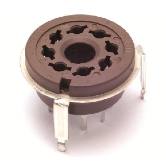Soquete para Válvula de 8 Pinos (Octal) Solda em placa PCI VT8-PTL-01 - Belton