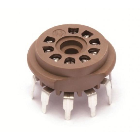 Soquete para Válvula de 9 Pinos (Noval) Solda em placa PCI VT9-PT - Belton