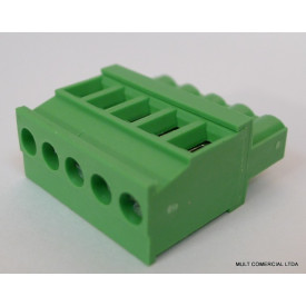 Conector Verde Multipolar AKZ1110 Fêmea - Passo 5,08mm - Phoenix Mecano