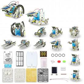 Kit Educacional Robô Solar - 13 EM 1 - Facíl de Montar - WP102615