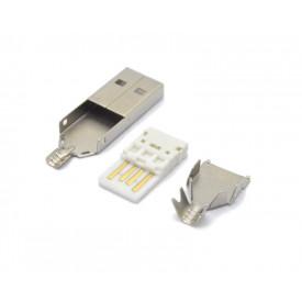 Conector USB A Macho Solda Fio - 3.4.35