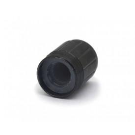 Knob de alumínio para potenciômetro de eixo estriado - A13x17 - Preto