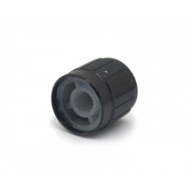 Knob de alumínio para potenciômetro de eixo estriado - A17x17 - Preto