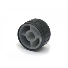 Knob de alumínio para potenciômetro de eixo estriado - A21x13 - Preto