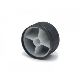 Knob de alumínio para potenciômetro de eixo estriado - A32x17 - Preto