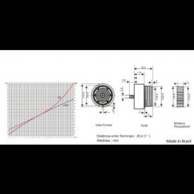 Buzzer para Painel - S-3/30V-1-C - Sonalarme