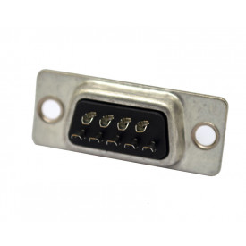Conector DB09  Macho Solda Fio DS1033-09MBNSISS - Connfly