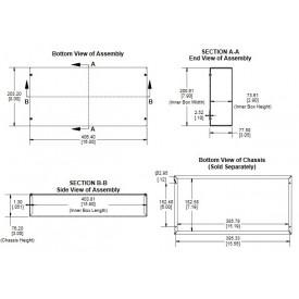 Chassi para Montagem de Amplificador Valvulado 1444-28 Hammond