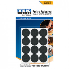 Feltro Adesivo - Embalagem com 20 Unidades - Tek Bond