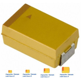 Capacitor Tântalo 10uf/16v - Case C