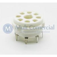 Soquete para Válvula de 8 Pinos (Octal) Cerâmico (Solda em placa - PCI) - 8PINPC