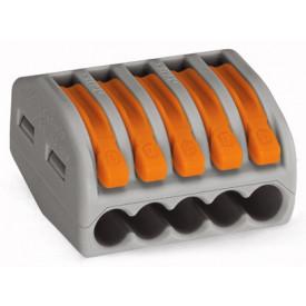 Conector Wago Borne Emenda Para 5 Fios - 222-415 - Wago