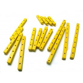 Kit Vigas 3D Termoplástico Amarelo 020  - Modelix